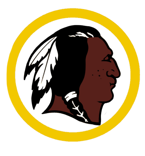 And now, a more modern version of the Redskins logo...if it went to Cici's with Fat Albert every day....